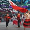 極寒の平昌五輪でも、トンガの旗手が上半裸にオイル姿で登場