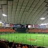 今年初の野球観戦、東京ドームはオレンジ一色に