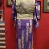 薄紫色地モダン散歩着×花柄織帯