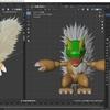 Blender2.8でモンスター型のキャラクターモデルを作成する その2(毛並みオブジェクトを活用する)