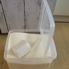 洗濯用粉洗剤に最適!セリアのフタが立つ容器