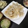 サバ缶餃子、ナムル、味噌汁