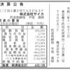 株式会社サイカ 第8期決算公告 / 減少公告