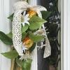 お花初心者オススメです。簡単に作れる 玄関ドア スワッグ