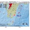 2016年12月25日 01時49分 宮崎県南部平野部でM2.9の地震