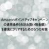 Amazonポイントアップキャンペーン条件(合計買い物金額)を着実にクリアするために実践している5つの対策