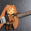 はちゅねミクギターが出来るまで【その2】ボディ延長・木材のつぎ足し