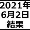 2021年6月2日結果 日経平均株価は上昇 マザーズ指数は軟調