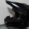 オフロードヘルメットの傷を補修してみた