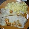 トンテキと甘辛炒り卵