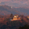 朝焼けに染まる備中松山城