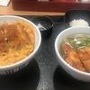 なか卯の夜定食で【鶏天おろしうどん】を食べてきた+かつ丼付