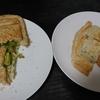 【夜】鶏むね蒸し、キャベツごま和え、味噌汁/【昼】焼き飯/【朝】ホットサンド