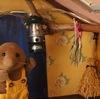 茶モグラさんちの玄関のライト☆