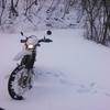 雪中アタックツーリング