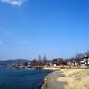 あ〜さんぽ 諏訪湖は冬と春の狭間