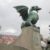 スロベニアの首都リュブリャナ観光 ドラゴンの橋