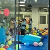 【中部大学祭 ② 】模擬店巡り:バルーンの森:風船をもらって大喜びでしたよ、ありがとうございました。🎈🎈🎈