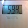 6/29 6日目 夜 59.4kg(寝る前)