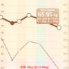 【ダイエット56日目】8/14 食事量・運動量。ついに65キロ代突破!