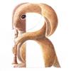 水彩画「Rabbit / Recorderist」
