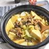 牛コマと厚揚げのキャベツカレー鍋*コスパ高い!安いお肉のお鍋特集
