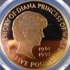 イギリス1999年ダイアナ追悼記念5ポンド金貨PCGS PR68 DCAM