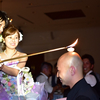 結婚式での一コマ、