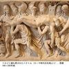 アポローン(7)/ニオベー2   イリアスの最終章トロイア王プリアモスが,アキレウスの陣営へおもむき,息子ヘクトルの遺骸をひきとる場面.アキレウスは,遺骸に化粧を施し送り出す準備をしたあと,老王プリアモスに語りかけます.「それでこれから食事にかかろうではありませんか.髪美わしいニオベすら,食事のことは忘れなかったのだから—屋敷の中で十二人の子,六人の娘と若い盛りの六人の息子を失ったニオベですら.泣き疲れるとやはり食事のことを思った」