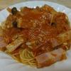 自家栽培のサンマルッアーノでスパゲッティ
