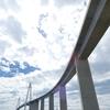 新湊大橋の『あいの風プロムナード』を渡る