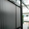 自作アルミフェンス1-2(オリジナル アルミ支柱と樹脂波板仕上)