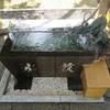 先週から手水舎の流水がまた使えるようになりました