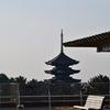 県庁屋上に上がれば敷きつめられた古代が一望の下に。飛鳥も葛城山も山辺の道もなまめかしい。