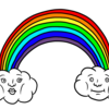 かわいい虹 のイラスト