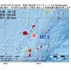 2016年11月07日 21時35分 奄美大島近海でM2.6の地震
