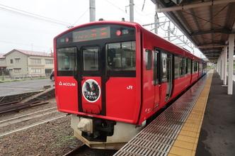 JR男鹿線の蓄電池電車「ACCUM」に乗る(どこかにマイル秋田旅行5)