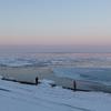 流氷と青い気嵐