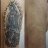 腕の黒一色のタトゥーが目立ちにくくなりました