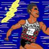 サニブラウン選手の栄誉を称えて競技場で追い込んだよ(2000m+1000m+1000mそのあと6kmペース走)