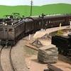 ED17 27の牽引する仙山線風列車