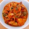 〔一人暮らし料理 〕トマトとウインナーの煮込み