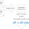 【Python】【pandas】DataFrameからarrayへの変換