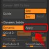 Zbrushの複数のサブツールのダイナミックサブディビジョンを一発で「適用状態」にする方法