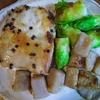 中華風鶏モモ蕾菜こんにゃく焼き