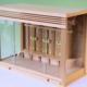 シンプルさが特徴 派手さ無し これと言った装飾もないガラス箱宮の神棚