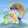CLIP STUDIO PAINT PRO(クリスタ)で描いたイラスト 「カエル好きの息子」