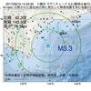2017年09月15日 14時23分 十勝沖でM3.3の地震