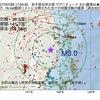 2017年07月26日 17時03分 岩手県沿岸北部でM3.0の地震