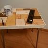 パイプ椅子をサイドテーブルへ変身 初心者が天板作製に挑戦